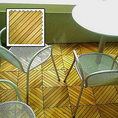 Interlocking Deck Tile - 12 Slat Style