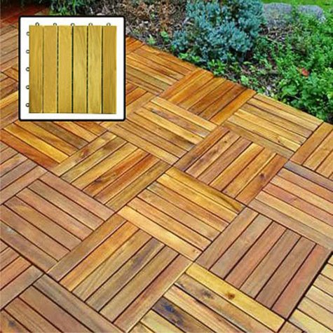 Interlocking Deck Tile - 6 Slat Style