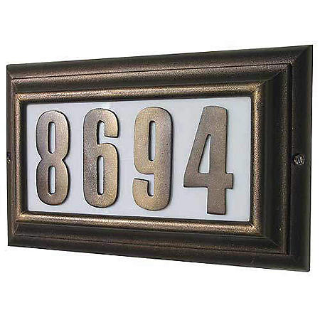 Edgewood Large Lighted Plaque - French Bronze