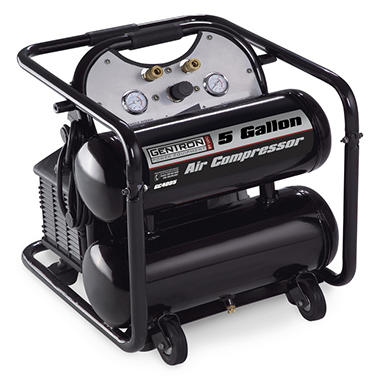 Gentron Twin-Tank Air Compressor - 5 Gallons