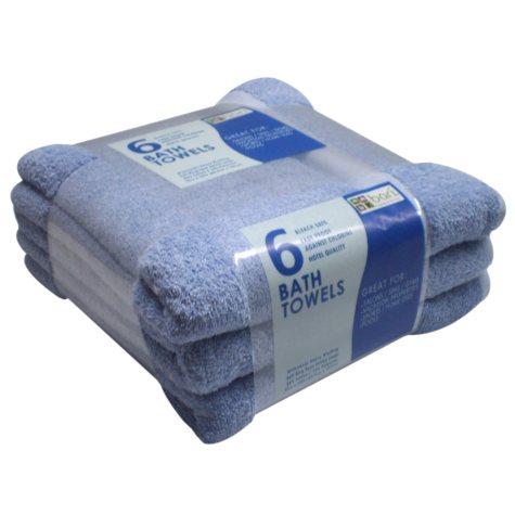 "Member's Mark Bath Towels - Blue - 25"" x 50"" - 6 pk."