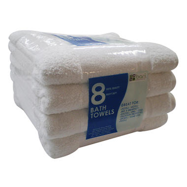 Bath Towels, White (25