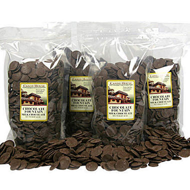 Chocolate Fountain Milk Chocolate Wafers - 4 pk.