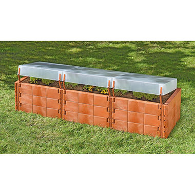 Triple-Box Raised Garden Bed with Cover