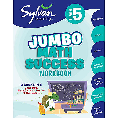 5th Grade Jumbo Math Success Workbook: Activities, Exercises, and Tips to Help Catch Up, Keep Up, and Get Ahead