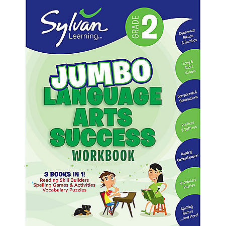 2nd Grade Jumbo Language Arts Success Workbook: Activities, Exercises, and Tips to Help Catch Up, Keup Up, and Get Ahead
