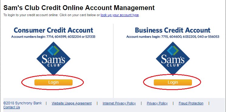 Samsclub Com Credit Login >> Access Online Credit Account