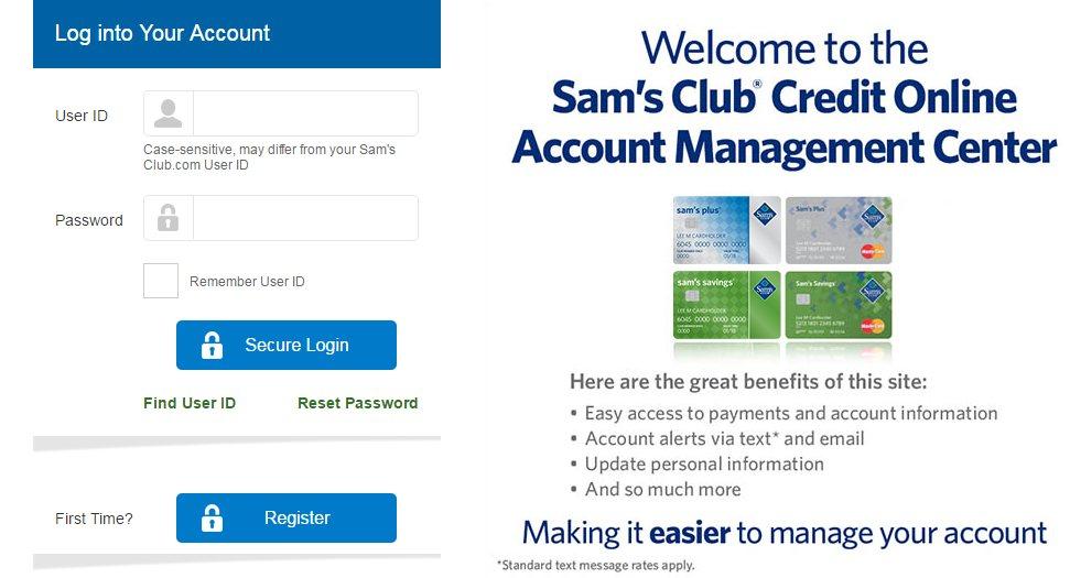Samsclub Com Credit Login >> Sams Credit Card Login Pay Online   Poemview.co